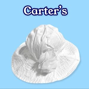 Carter's baby's size 12-24 months white sun hat
